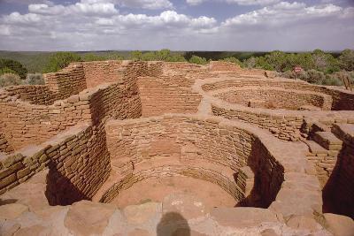 View of Pueblo Indian Kivas, Built 11th-14th Century--Photographic Print