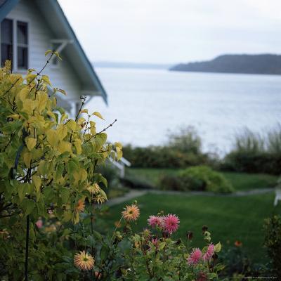 View of Puget Sound, Vashon Island, Washington State, USA-Aaron McCoy-Photographic Print