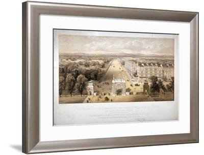 View of Queen's Gate, Hyde Park, Kensington, London, 1857-Day & Son-Framed Giclee Print