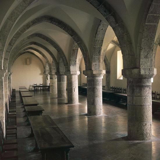 View of Refectory of Cistercian Casamari Abbey--Giclee Print