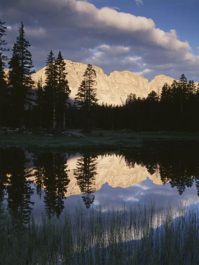 View of Reflecting Mountain in Bear River, High Uintas Wilderness, Utah, USA-Scott T^ Smith-Photographic Print