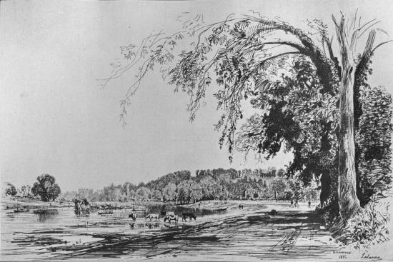 'View of Richmond from the Thames', 1871-Maxime Lalanne-Giclee Print