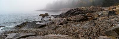 View of rocks at coast, Acadia National Park, Maine, USA--Photographic Print