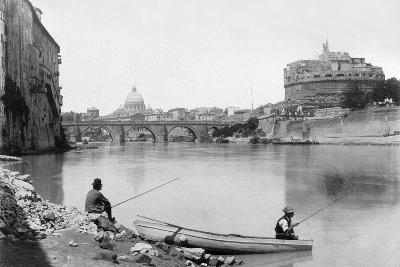 View of Rome and the Tiber (1900)--Photographic Print