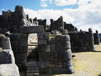 View of Sacsayhuaman Fortress, Built by Incas Between 1438 and 1500--Giclee Print