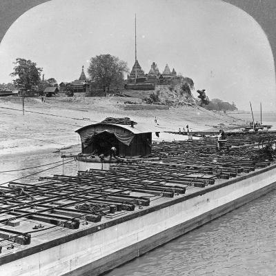 View of Sagaing from the Irrawaddy River, Burma, 1908--Photographic Print