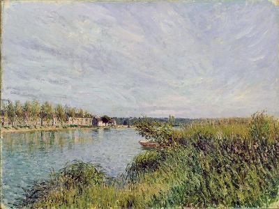 View of Saint-Mammes, C.1880-Alfred Sisley-Giclee Print