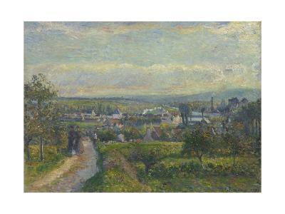 View of Saint-Ouen-L?Aum?ne, 1876-Camille Pissarro-Giclee Print