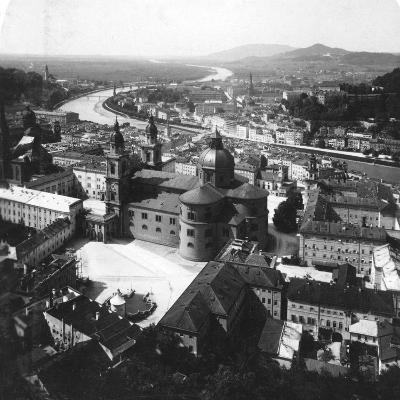 View of Salzburg from the Hohensalzburg Fortress, Salzburg, Austria, C1900-Wurthle & Sons-Photographic Print