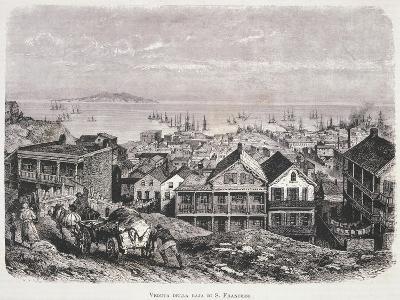 View of San Francisco Bay from Illustrazione Italiana Magazine, 10th August 1879--Giclee Print