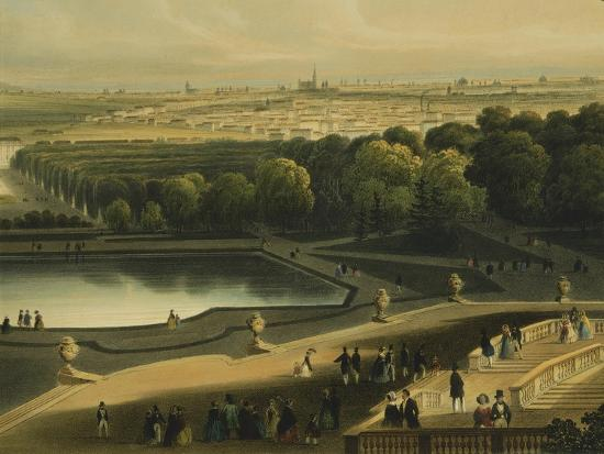 View of Schoenbrunn Palace in Vienna, Austria--Giclee Print
