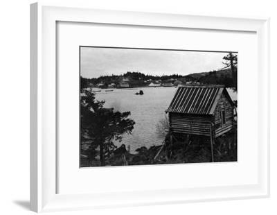 View of Seldovia, Alaska from across water Photograph - Seldovia, AK-Lantern Press-Framed Art Print