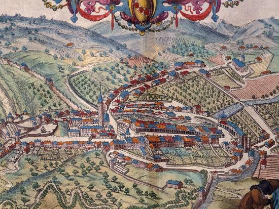 View of Serravalle Scrivia-Georg Braun and Franz Hogenberg-Giclee Print