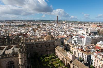 View of Seville from Giralda Bell Tower, Seville, Andalucia, Spain-Carlo Morucchio-Photographic Print