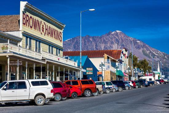 View of Seward, Alaska storefronts--Photographic Print