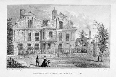 View of Shacklewell Manor House, Hackney, London, C1830-Dean and Munday-Giclee Print
