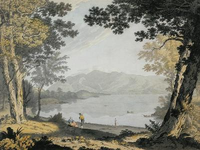 View of Skiddaw and Derwentwater, C.1780 (W/C and Pen over Pencil)-Joseph Farington-Giclee Print