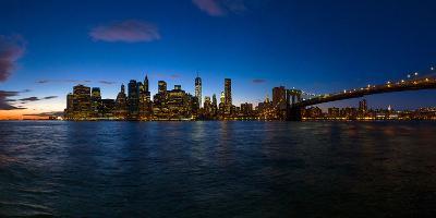 View of Skyline from Brooklyn, Manhattan, New York City, New York State, Usa 2014--Photographic Print