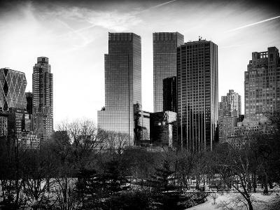 View of Skyscrapers from Central Park in Winter - Manhattan - New York City - United States - USA-Philippe Hugonnard-Photographic Print