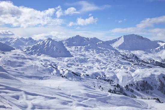 View of Slopes Near Belle Plagne, La Plagne, Savoie, French Alps, France, Europe-Peter Barritt-Photographic Print