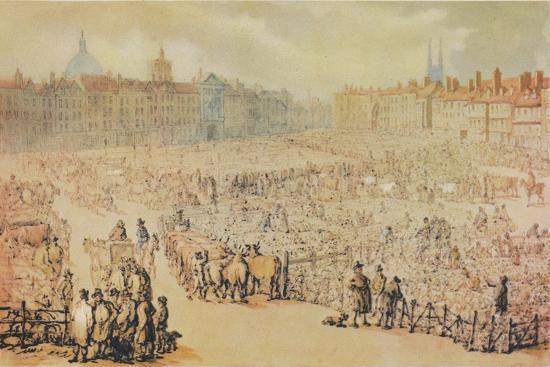 View of Smithfield Market, London, 1810-Unknown-Giclee Print