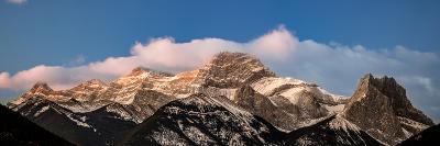 View of snowcapped mountain, Mount Lougheed, Kananaskis Country, Calgary, Alberta, Canada--Photographic Print