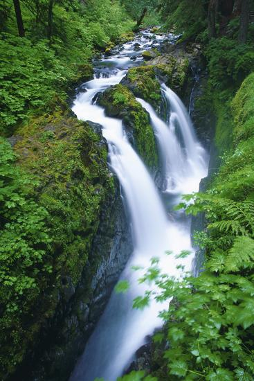 View of Sol Duc Falls in Olympic National Park, Washington-Keith Ladzinski-Photographic Print