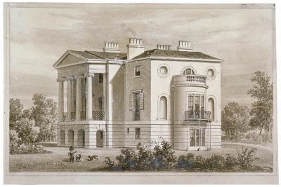 View of South Villa in Regent's Park, London, 1827-Thomas Hosmer Shepherd-Giclee Print