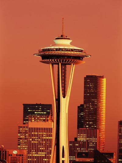 View of Space Needle and Seattle Buildings, Seattle, Washington, USA-Stuart Westmorland-Photographic Print
