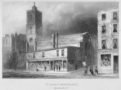 View of St Dionis Backchurch from Fenchurch Street, City of London, 1847-Albert Henry Payne-Giclee Print