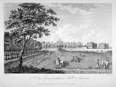 View of St James's Park from Constitution Hill, Westminster, London, 1735-Edmund Scott-Giclee Print