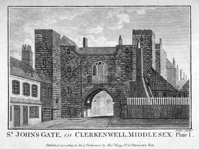 View of St John's Gate, Clerkenwell, London, C1790-John Peltro-Giclee Print