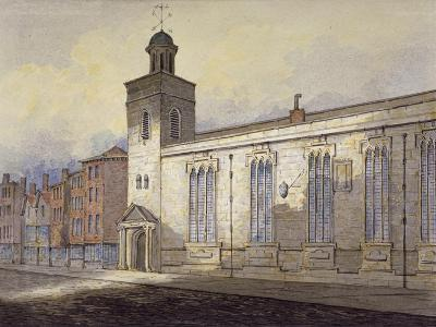 View of St Katherine Cree's Sundial, City of London, C1815-William Pearson-Giclee Print