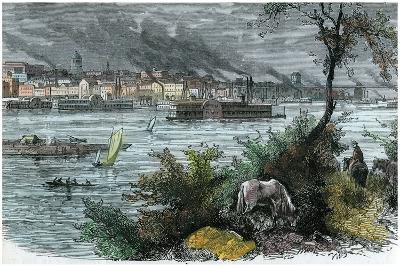 View of St Louis, Missouri, USA, C1880--Giclee Print