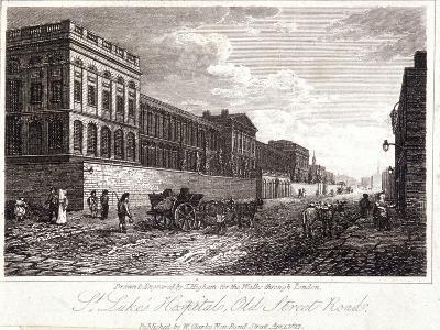 View of St Luke's Hospital, Old Street, Finsbury, London, 1817-Thomas Higham-Giclee Print