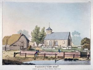 View of St Mary's Church, Paddington, London, 1791