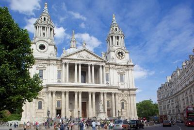 View of St. Paul's Cathedral, London, England, United Kingdom, Europe-Frank Fell-Photographic Print