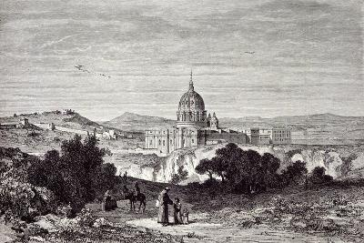 View of St. Peter's and the Vatican--Giclee Print