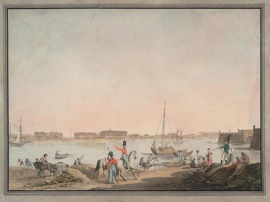View of St. Petersburg from the Neva, 1808-Christian Gottlieb Hammer-Giclee Print