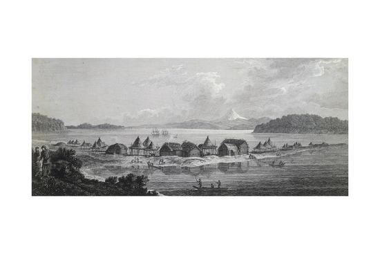 View of St Pierre and St Paul Village and Port, Engraving Based on Drawing by John Webber--Giclee Print