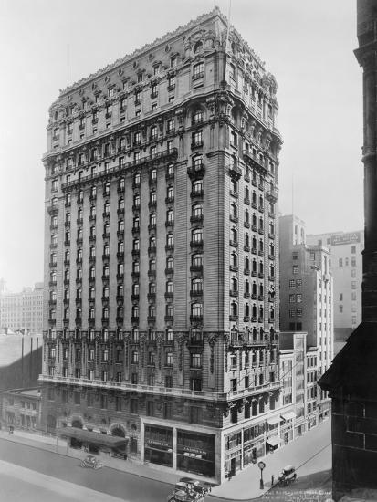 View of St Regis Hotel in NYC-Irving Underhill-Photographic Print