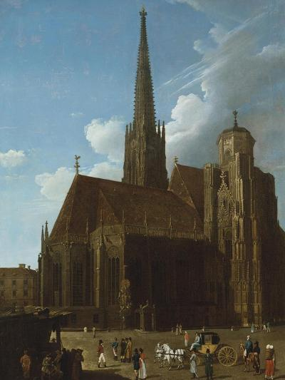 View of St. Stephens Cathedral, Vienna-Eug?ne Boudin-Giclee Print