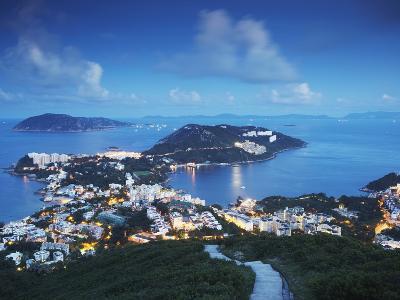 View of Stanley at Dusk, Hong Kong Island, Hong Kong, China-Ian Trower-Photographic Print