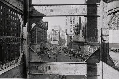 View of Steel Girders of the Old times Tower--Photographic Print