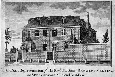 View of Stepney Meeting House, Stepney, London, 1783--Giclee Print