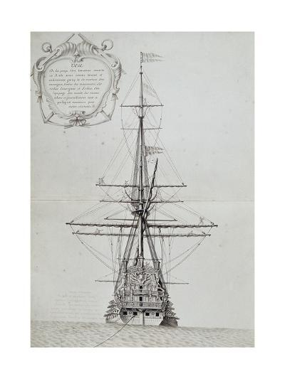 View of Stern of Vessel at Anchor, from Atlas De Colbert, France, 17th Century--Giclee Print