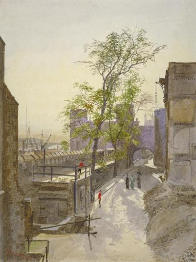 View of Store Rooms Looking West from Cradle Tower, Tower of London, Stepney, London, 1883-John Crowther-Giclee Print