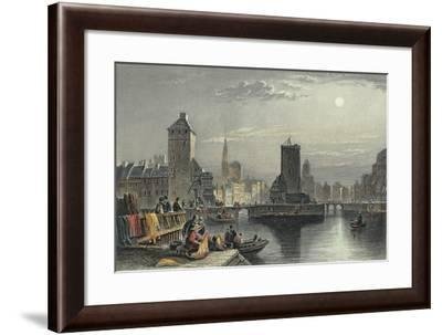 View of Strasbourg with III River--Framed Giclee Print