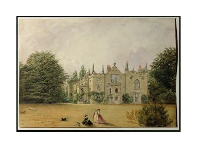 View of Strawberry Hill, Middlesex from the Gardens-Gustave Ellinthorpe Sintzenich-Giclee Print