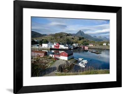 View of Sund Harbour, Lofoten Islands, Nordland, Norway, Scandinavia, Europe-Ethel Davies-Framed Photographic Print